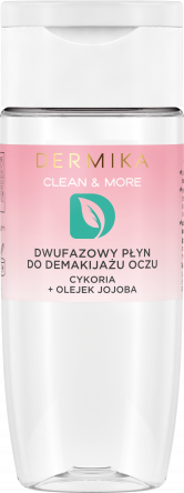Dermika Dwufazowy płyn do demakijażu oczu cykoria+olejek jojoba