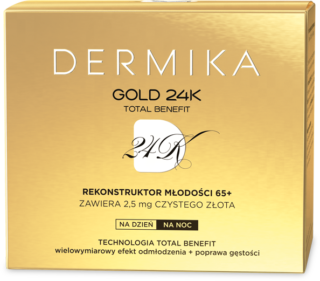 Dermika GOLD 24K TOTAL BENEFIT Rekonstruktor Młodości 65+