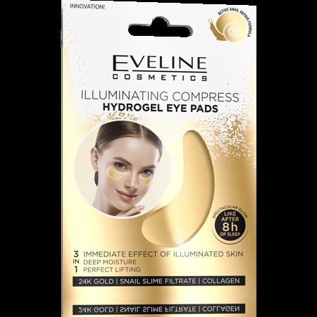 Eveline Hydrożelowe Płatki pod oczy - rozświetlający kompres 2szt