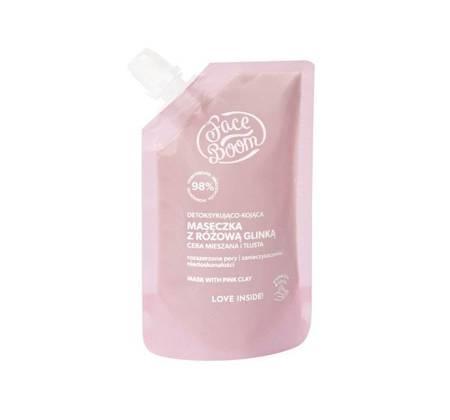 FaceBoom Detoksykująco-kojąca maseczka z różową glinką