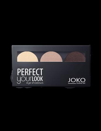 JOKO Cienie prasowane do powiek TRIO PERFECT YOUR LOOK 300