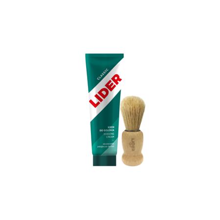 Krem do golenia Lider Classic 65ml + Lider Pędzel