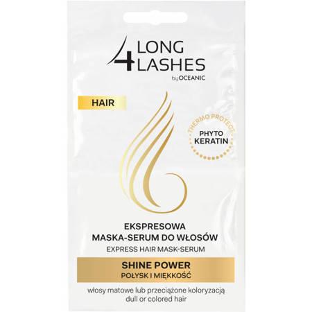 LONG4LASHES Ekspresowa maska do włosów SHINE POWER 2 x6ml