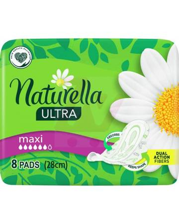 Naturella Ultra Maxi Podpaski ze skrzydełkami x8