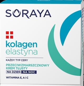 Soraya KOLAGEN+ELASTYNA Przeciwzmarszczkowy krem tłusty dzień/noc