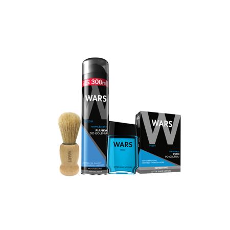 Wars Resh Pianka+Płyn po goleniu+Pędzel do golenia